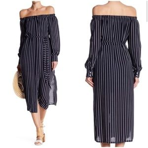 NWT Striped Off the Shoulder Dress